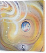 Astral Vision. Earth And Its Energy Wood Print