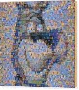 Astro Jetsons Mosaic Wood Print