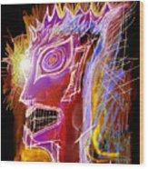 Astroface Firehead Wood Print