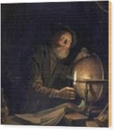 Astronomer 1655 Wood Print