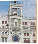 Astronomical Clock At San Marco Square Wood Print