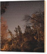 Astrophotography - Sequoia Rv Ranch - California Wood Print