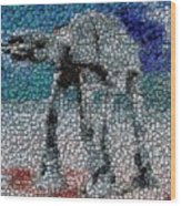 At-at Bottle Cap Mosaic Wood Print by Paul Van Scott