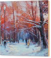 At Dawn On Tverskoy Boulevard Wood Print