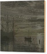 At Dock Wood Print