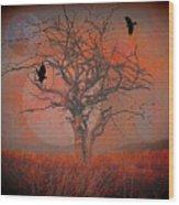 at Dusk Wood Print