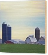 At First Light - Illinois Farmland Wood Print