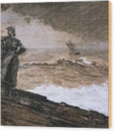 At High Sea Wood Print by Winslow Homer