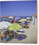At Mondello Beach - Sicily Wood Print