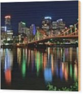 At Rivers Edge In Pittsburgh Wood Print