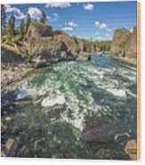 At Riverside Bowl And Pitcher State Park In Spokane Washington Wood Print