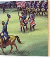 At Saratoga The Colonists Won Victory Wood Print