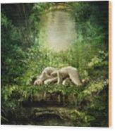 At Sleep Wood Print
