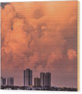 At Sunset In West Palm Beach Wood Print