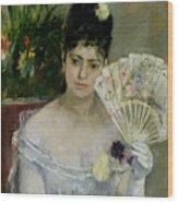 At The Ball Wood Print by Berthe Morisot