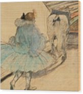 At The Circus Entering The Ring 1899 Wood Print