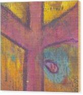 At The Cross Wood Print