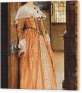 At The Doorway Wood Print