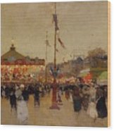 At The Fair  Wood Print by Luigi Loir