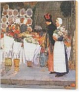 at the florist 1889 Childe Frederick Hassam Wood Print