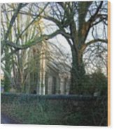 At The Gate Wood Print