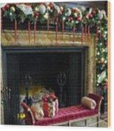 At The Hearth Of Christmas Wood Print