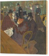 At The Moulin Rouge 1892 95 Wood Print