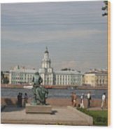 At The Newa - St. Petersburg Russia Wood Print
