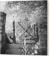 At The Old Gate Wood Print