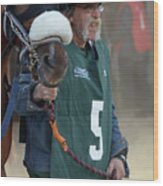 At The Racetrack 5 Wood Print