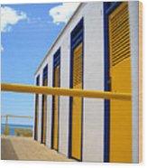 At The Seashore 3 Wood Print