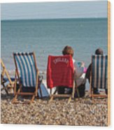At The Seaside Wood Print