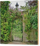 At The Secrete Gate To The Garden. Wood Print