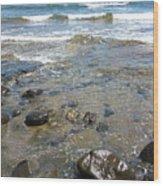 At The Shore Wood Print