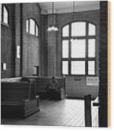 At The Station Wood Print