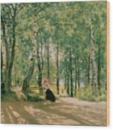 At The Summer Cottage Wood Print