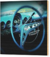 At The Wheel Wood Print
