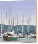 At The Yacht Club Wood Print