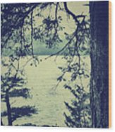 At The Water's Edge Wood Print