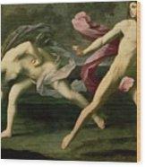 Atalanta And Hippomenes Wood Print