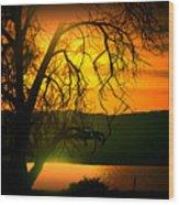Atardecer Salton Sea Wood Print
