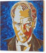 Ataturk Wood Print