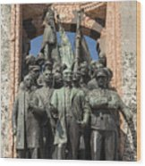 Ataturk Statue Wood Print