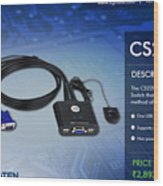 Aten's 2 Port Usb Cable Kvm Switch - Cs22u Wood Print