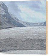 Athabasca Glacier, Jasper National Park Wood Print