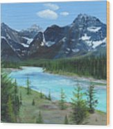 Athabasca River Wood Print