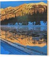 Athabasca River Glow Wood Print