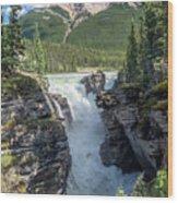 Athabaska Falls, Mt. Hardisty Wood Print