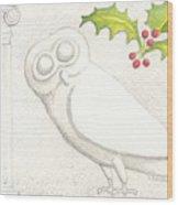 Athenian Owl Wood Print
