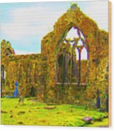 Athenry Ruin Wood Print